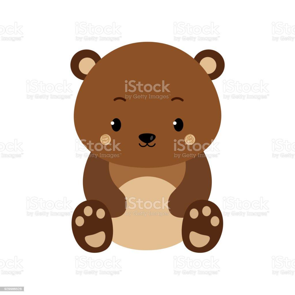 Cute cartoon bear backgrounds. Flat design. Vector Illustration. vector art illustration