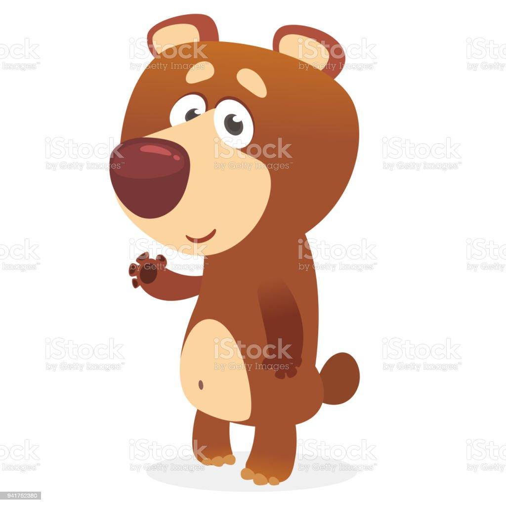 Niedliche Bären Zeichentrickfigur Vektorillustration Eines Bären ...