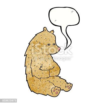 cute cartoon bear with speech bubble