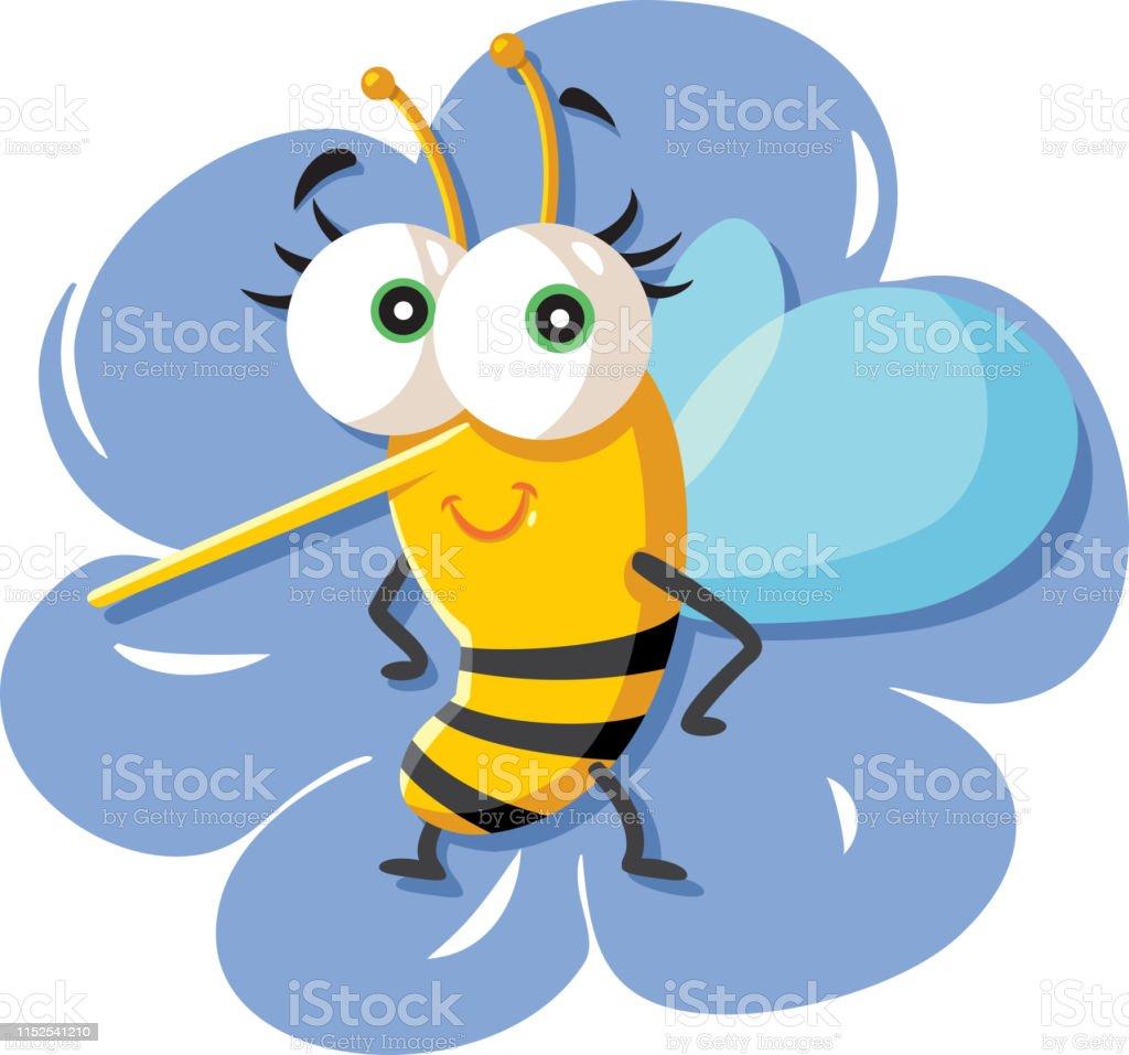 花の上に座ってかわいい漫画の蜂 アイコンのベクターアート素材や画像を多数ご用意 Istock