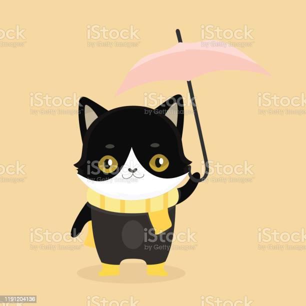 Cute cartoon black cat with big eyes vector illustration vector id1191204136?b=1&k=6&m=1191204136&s=612x612&h=njsqjudhntuwlologabvai7ecmhyki4g fj9zwocg6m=