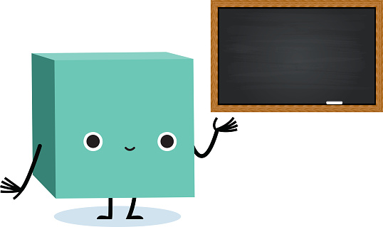 Cute Cartoon Box and Board