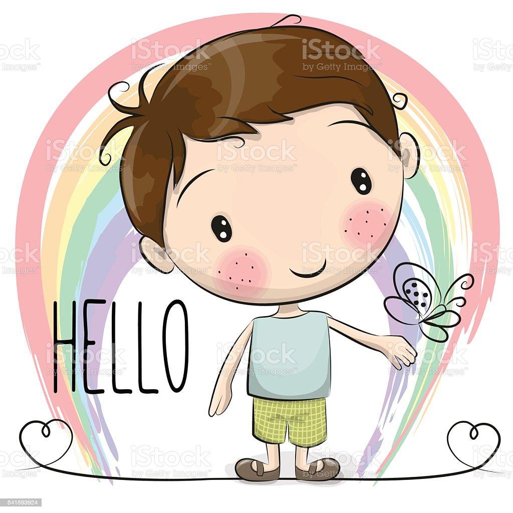 cute cartoon boy stock vector art more images of activity rh istockphoto com cute cartoon boy hd wallpaper Cute Cartoon Girl
