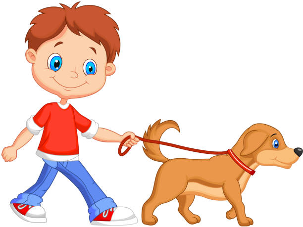Image result for a family with a pet dog clipart with one child