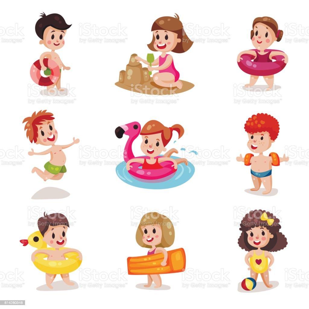 Ilustración De Ilustraciones De Vectores De Dibujos Animados Niños Y
