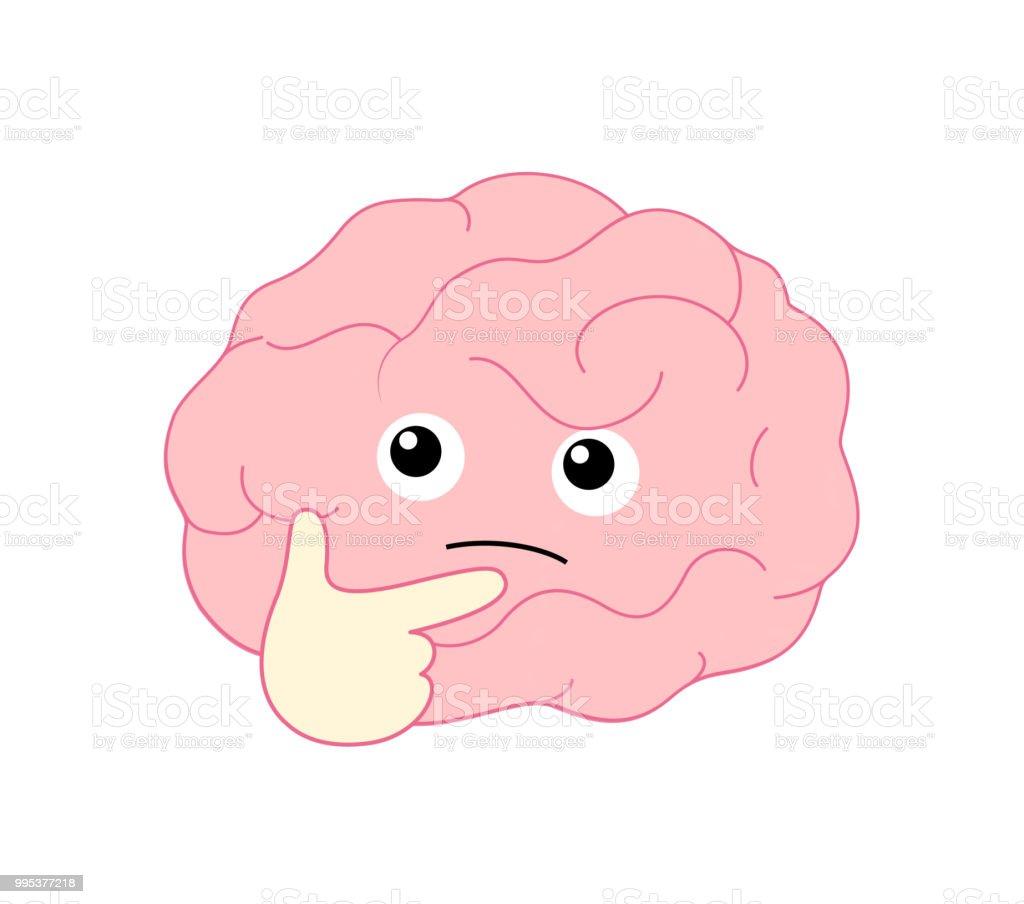 Ilustración de Personaje De Dibujos Animados Lindo Cerebro ...