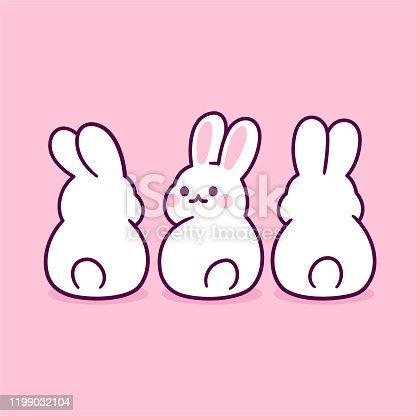 istock Cute cartoon bunnies 1199032104