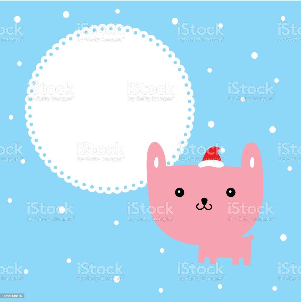cute cartoon bunny rabbit merry christmas greeting card vector cute cartoon bunny rabbit merry christmas greeting card vector - stockowe grafiki wektorowe i więcej obrazów baby shower royalty-free