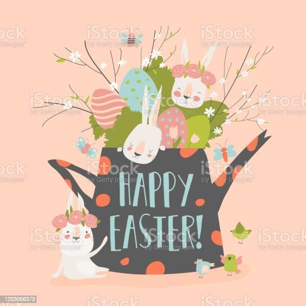 Cute cartoon bunny with easter eggs and flowers vector id1203056373?b=1&k=6&m=1203056373&s=612x612&h=rke0pmeylmymio9qbwond7fnhhkuyyqovhi rn mxva=