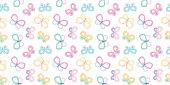 Cute cartoon butterflies seamless repeat pattern vector background