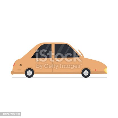 istock Cute cartoon car transport isolated on white background 1324896398