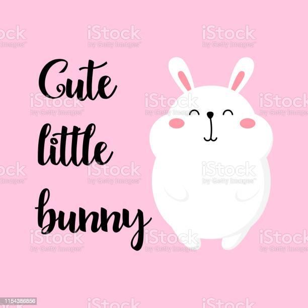 Cute cartoon card with rabbit vector illustration bunny funny print vector id1154386856?b=1&k=6&m=1154386856&s=612x612&h=g kp01yeru2h0oqnvzh76dhelnhsoga5qhvtpbieldm=