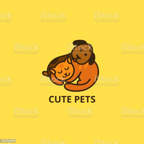 Cute cartoon cat and dog sleepy pets vector icon vector id912244576?b=1&k=6&m=912244576&s=612x612&h=4v4g5pcmsj jelepi vmb npp2pskr7ccq4yonyzo i=