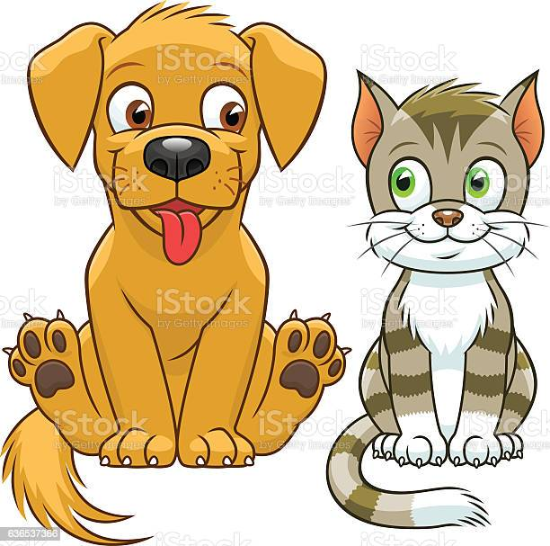 Cute cartoon cat and dog vector id636537366?b=1&k=6&m=636537366&s=612x612&h=bhd6o49bqgabt3ak8lc2yb ffloscxtwshamemkgzp8=