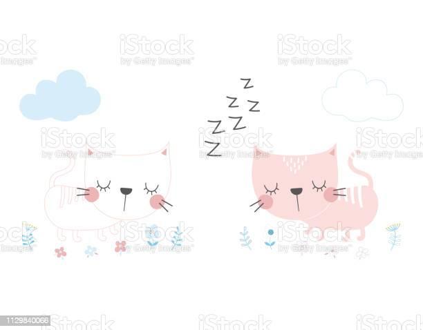 Cute cartoon cat in scandinavian style vector id1129840066?b=1&k=6&m=1129840066&s=612x612&h=1gjnxjss67nhm3r neayrzatghjglyjnhlgvhbv2cza=