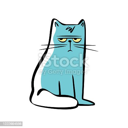 istock Cute cartoon cat 1222664556