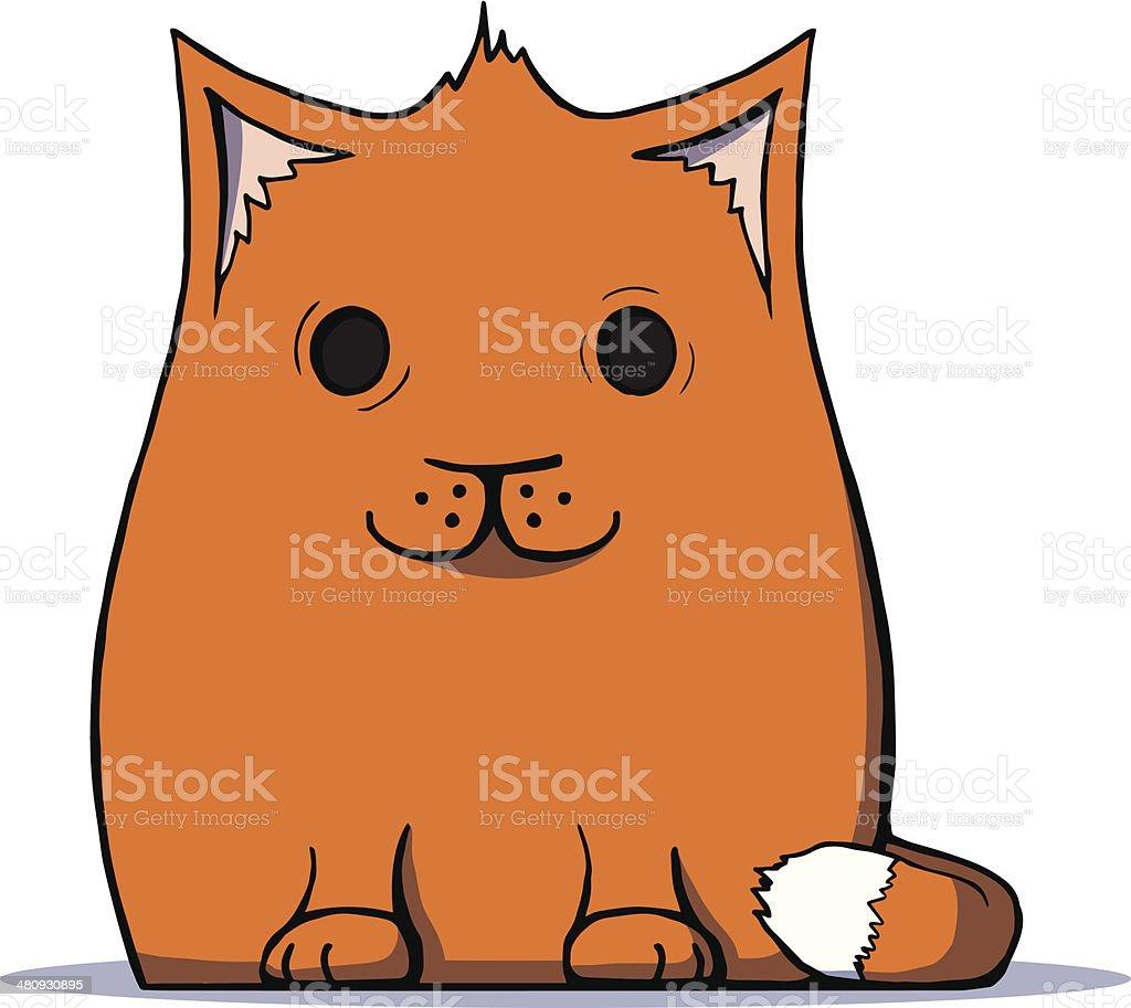 Cute cartoon cat. Vector illustration