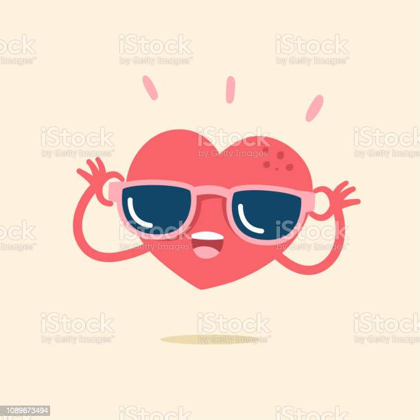 Cute cartoon character of heart smiling happily with sunglasses vector id1089673494?b=1&k=6&m=1089673494&s=612x612&h=wgyh0yi9flgcsuk0vcls3b q2g6t mnolp8mmsdht1s=