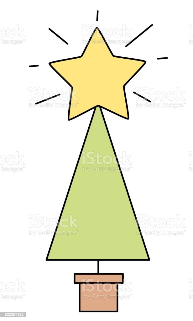 cute cartoon christmas tree vector background illustration vector art illustration
