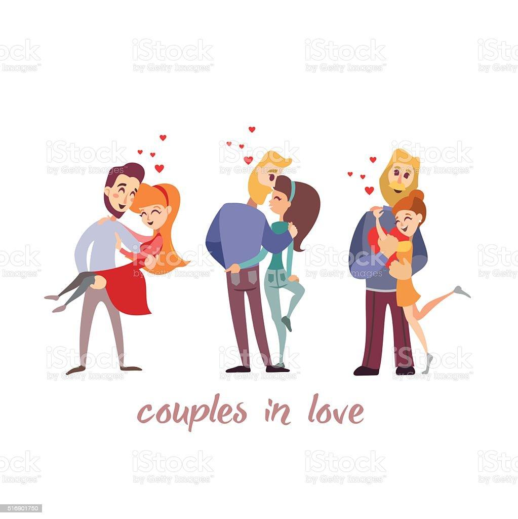 かわいい漫画のカップルに好評です のイラスト素材 516901750 | istock
