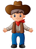 Cute cartoon cowboy