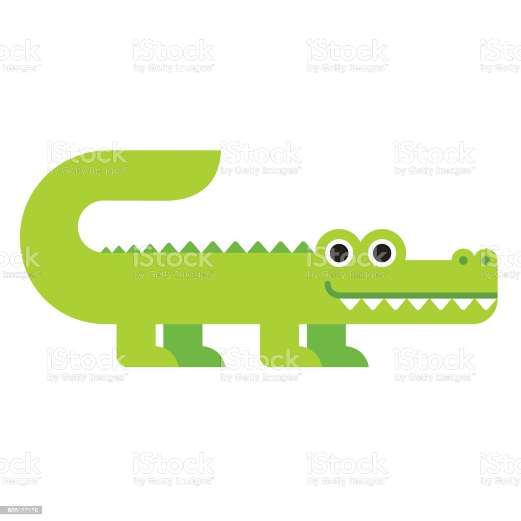Mignon dessin animé crocodile - Illustration vectorielle