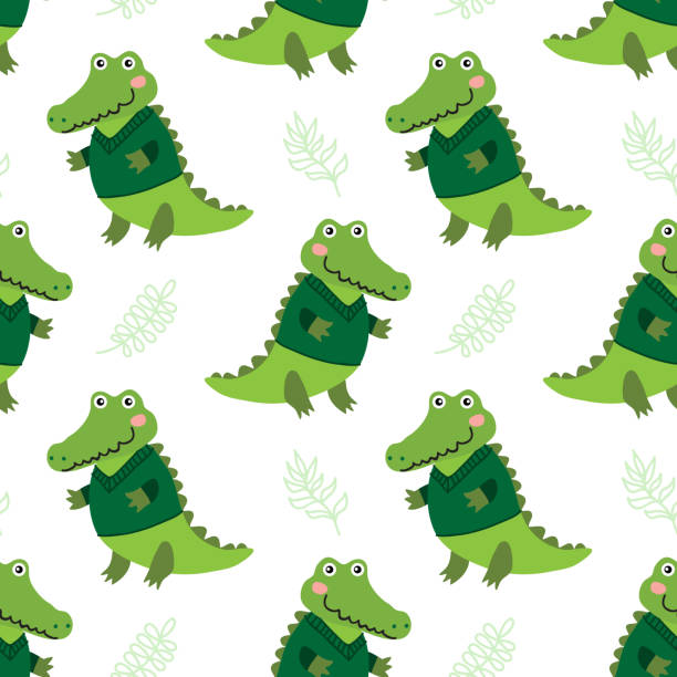 Royalty Free Small Crocodile Clip Art, Vector Images & Illustrations