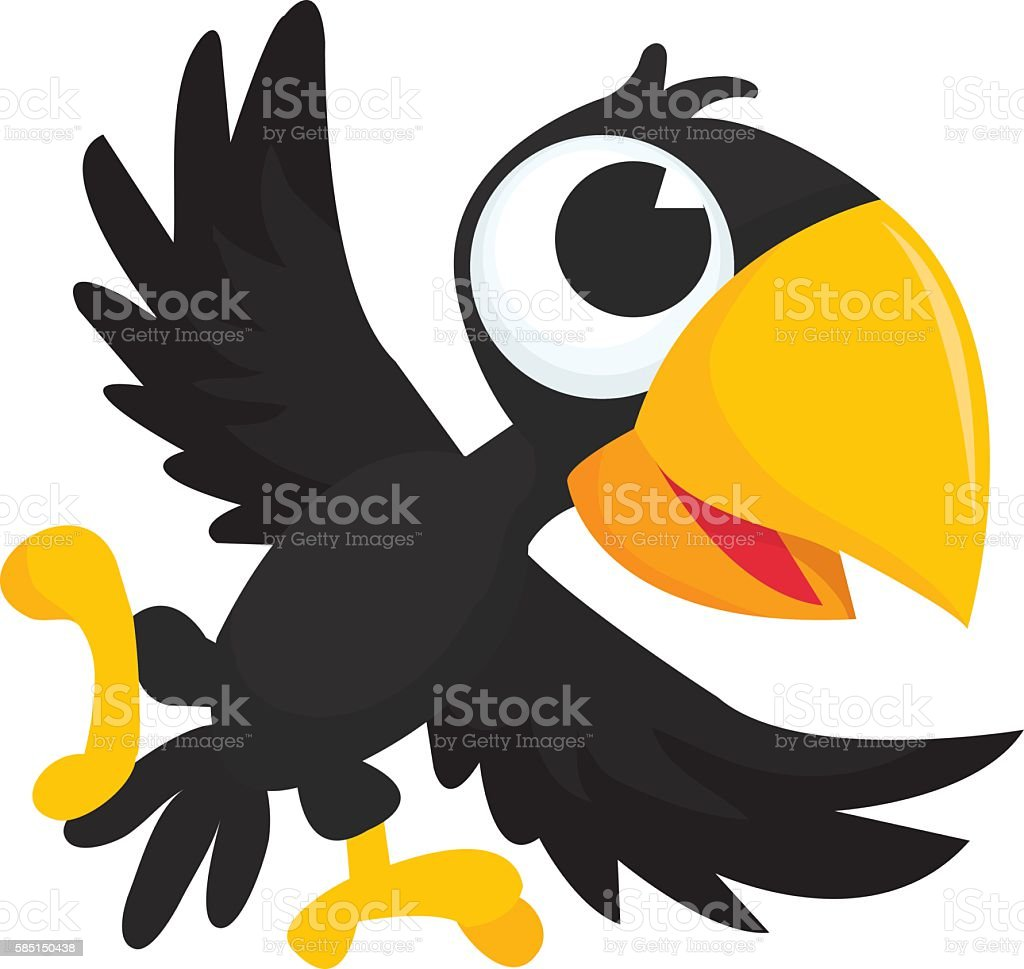 royalty free funny crow clip art vector images illustrations istock rh istockphoto com crow clip art images crowd clip art