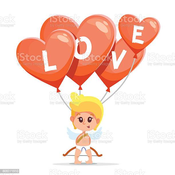 Cute cartoon cupid holding air balloons with love letters vector id505271510?b=1&k=6&m=505271510&s=612x612&h=jskfewcbvlyclcuiiki 2jk qweahjd8teq9fcqblo8=
