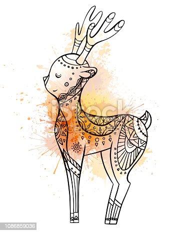 ᐈ Imagen De Lindo Ciervo De Dibujos Animados Para Colorear Con