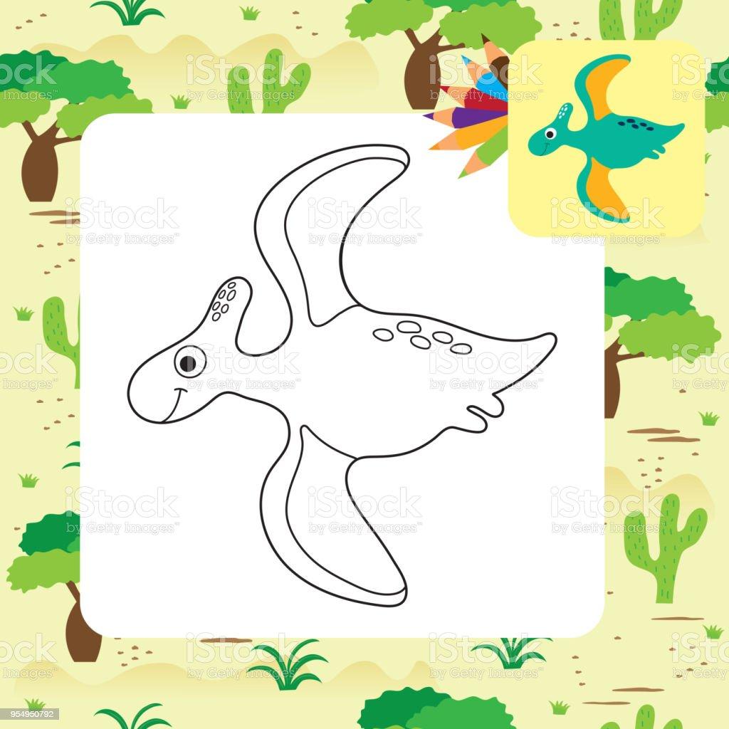 Gemütlich Kleine Süße Dino Dan Cartoon Ich Liebe Dinosaurier ...