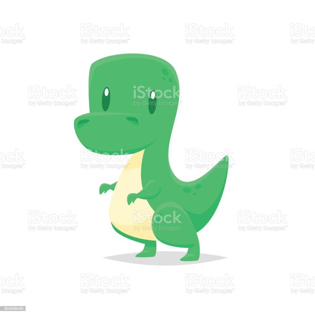 Cute cartoon dinosaur vector vector art illustration