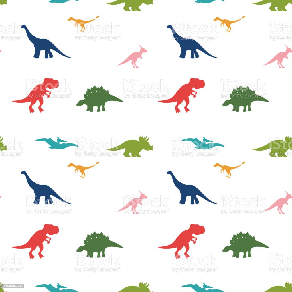 Cute cartoon dinosaurus pattern on white royalty-free cute cartoon dinosaurus pattern on white stock vector art & more images of animal