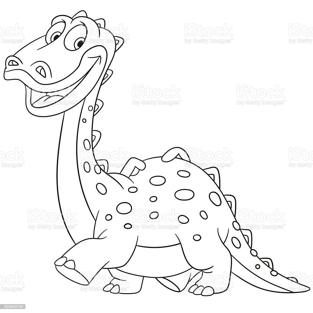 Cute Cartoon Diplodocus Royalty Free Stock Vector Art Amp More Images