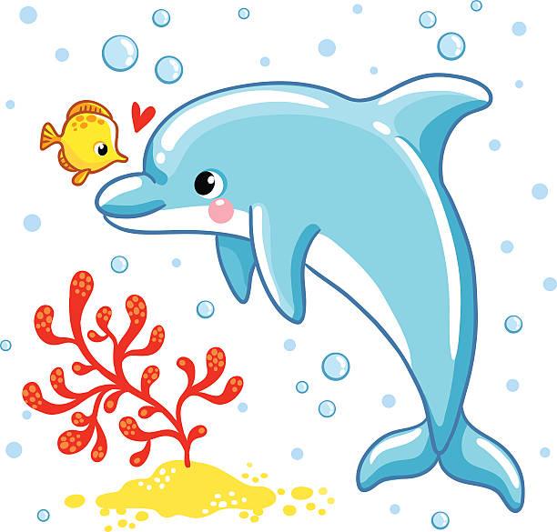 36 cute dolphin couple cartoon illustrations & clip art - istock  istock