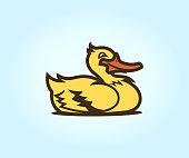 istock Cute cartoon duck 1341032125