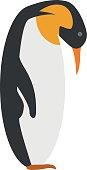 Cute cartoon Emperor penguin vector illustration