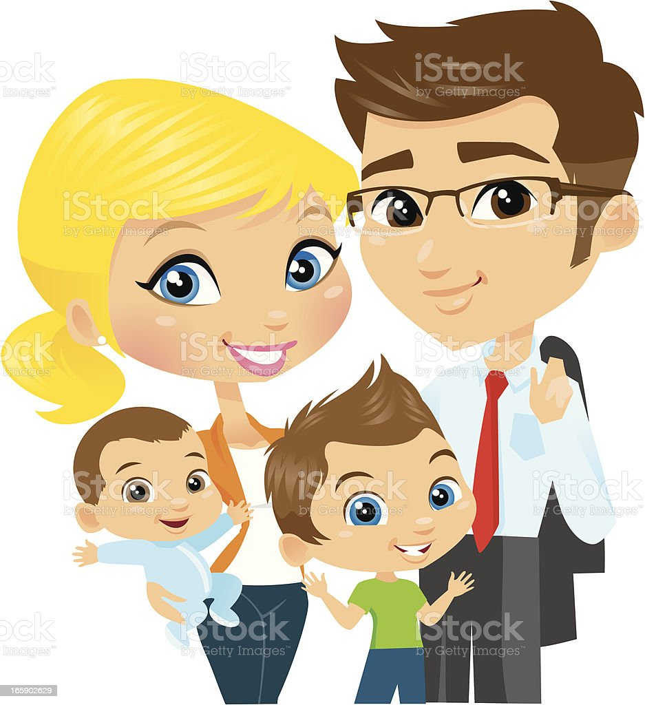 cute cartoon family stock vector art amp more images of