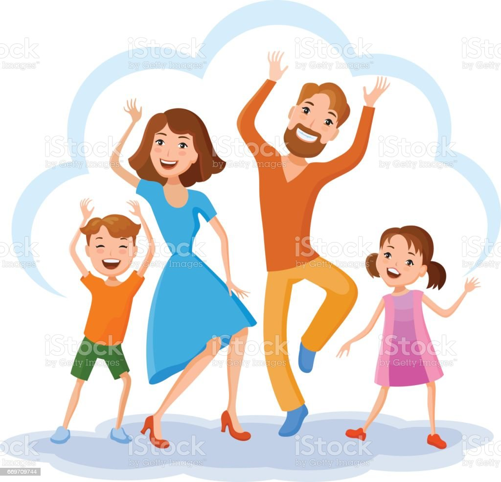 Cute Cartoon Family Stock Illustration Download Image Now Istock