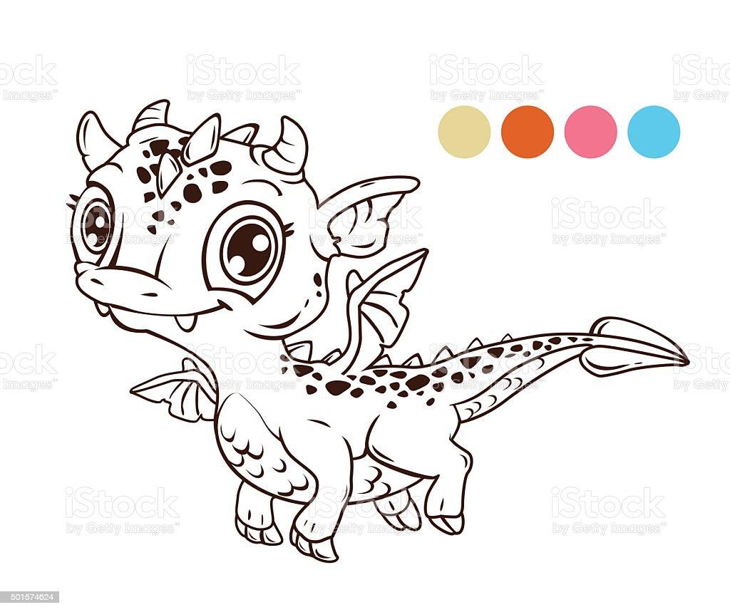 Dessin anim mignon b b dragon volant vecteurs libres de droits et plus d 39 images de aile d - Dessin de bebe dragon ...