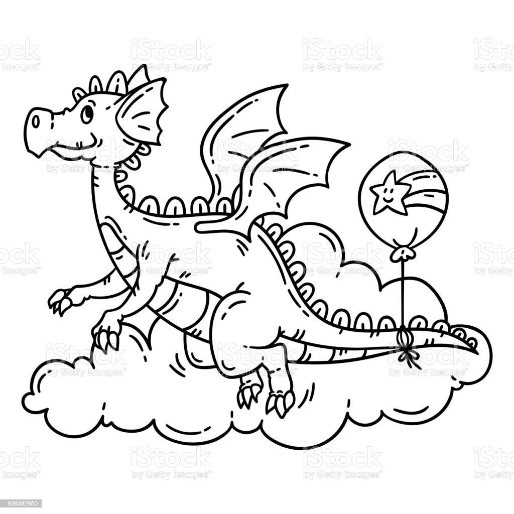 Lujo Colorear Dragón De Komodo Ilustración - Dibujos Para Colorear ...
