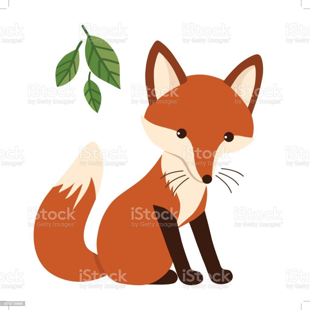 Cute cartoon fox flat style stock vector art more images of animal 678718986 istock - Clipart renard ...