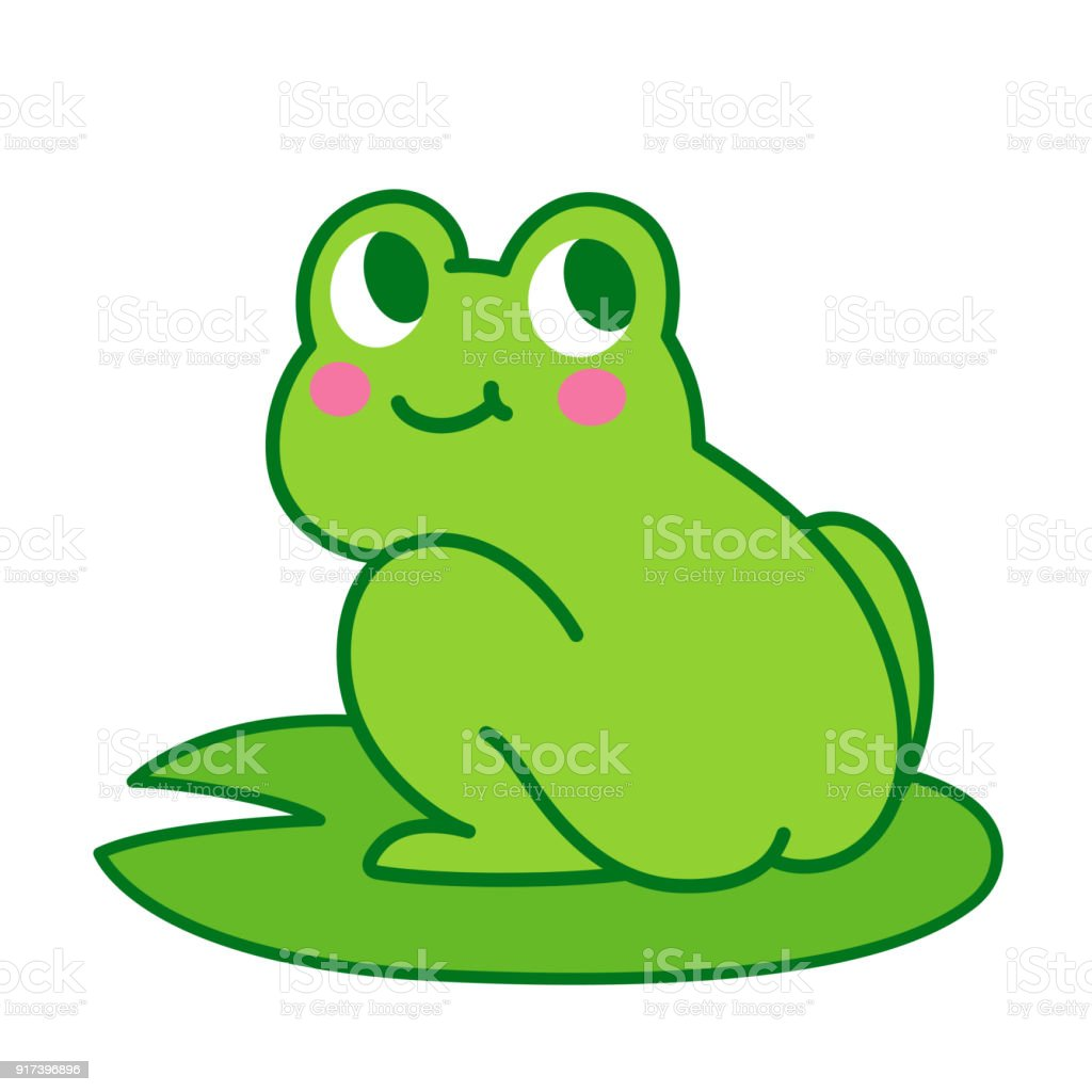 cute cartoon frog butt stock vector art more images of animal