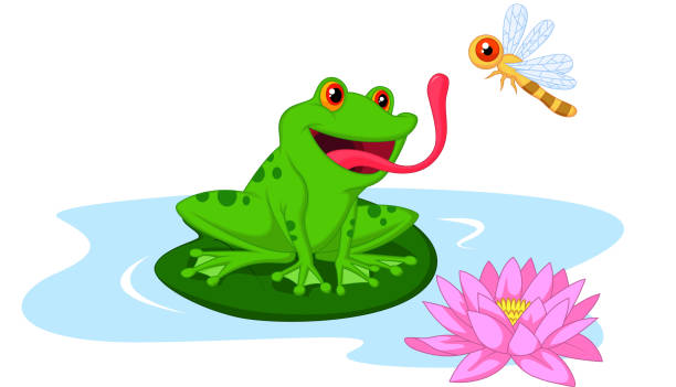 Royalty Free Frog Catching Fly Clip Art, Vector Images ...
