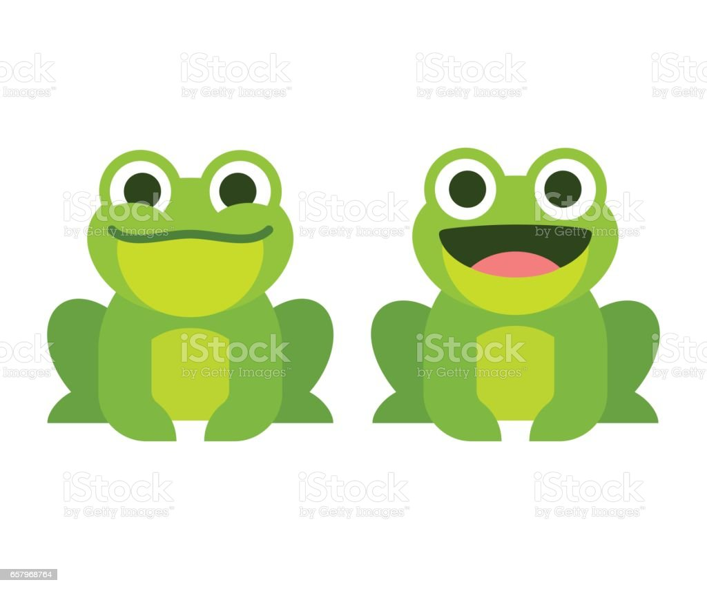cute cartoon frog stock vector art more images of amphibian