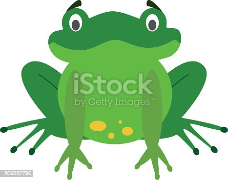 Cute cartoon frog Vector illustration. EPS10 file compatible and editable.
