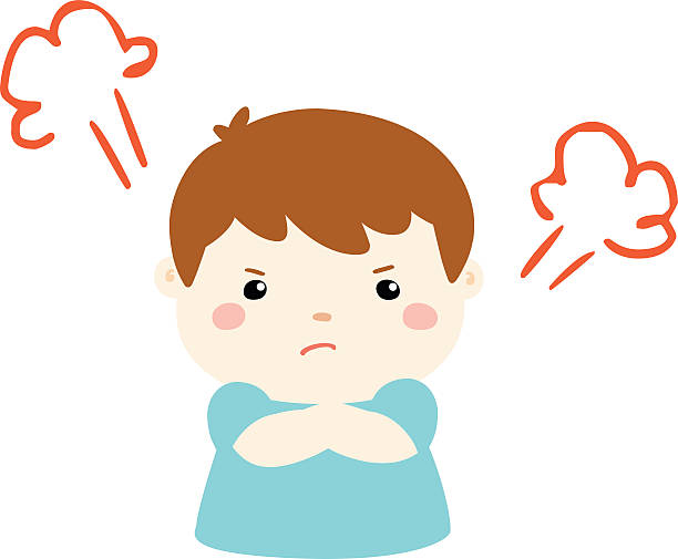 M A S K Cartoon Characters : Royalty free angry boy clip art vector images