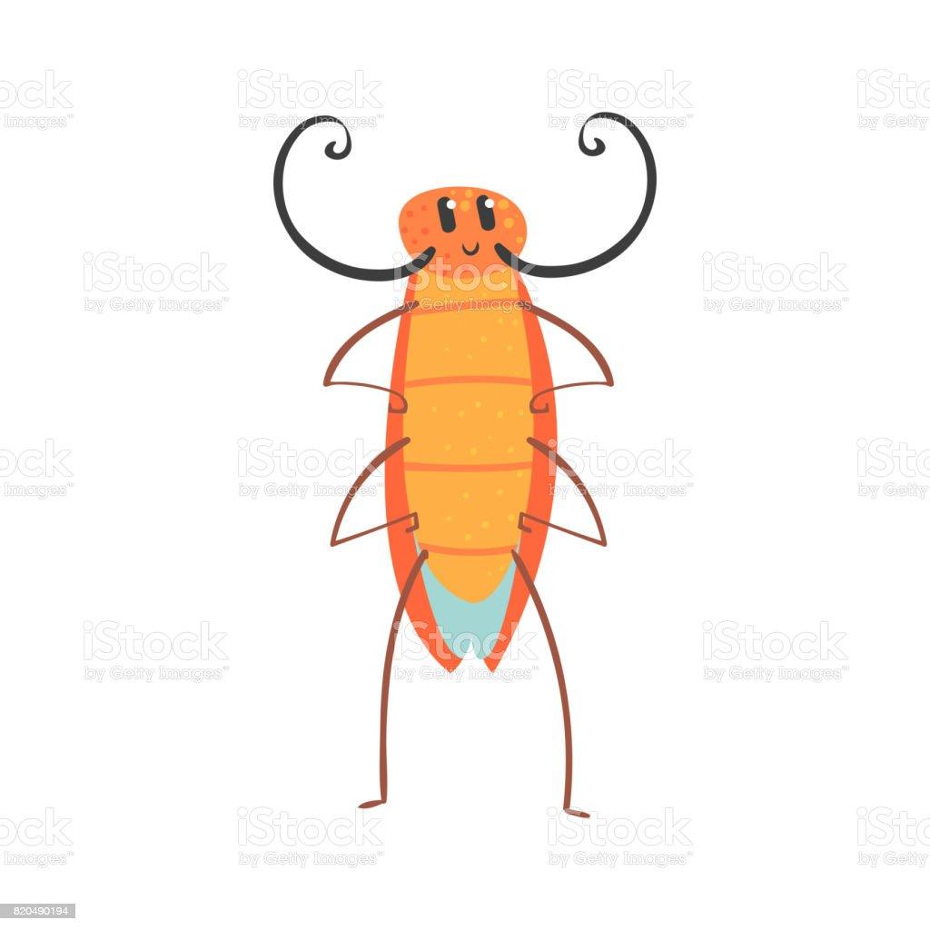 かわいい漫画面白いゴキブリの文字ベクトル図 いたずらのベクター