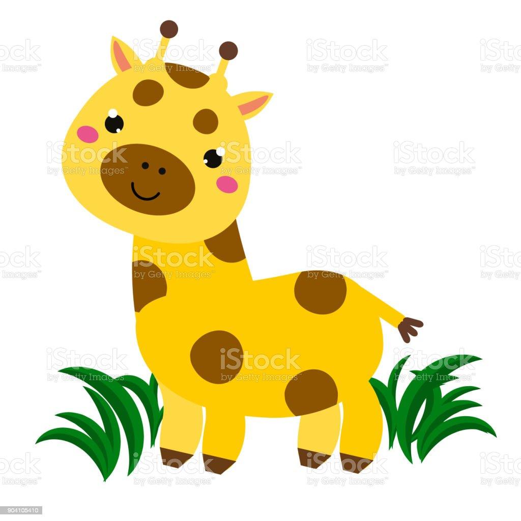 Girafe De Dessin Anime Mignon Imprime Des Caracteres Animales Pour
