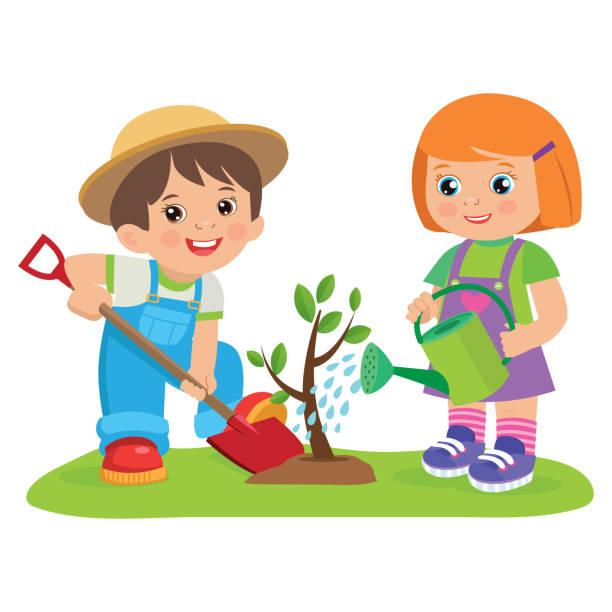 Image result for clipart gardener children